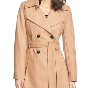 Via Spiga belted wool double breasted trench coat